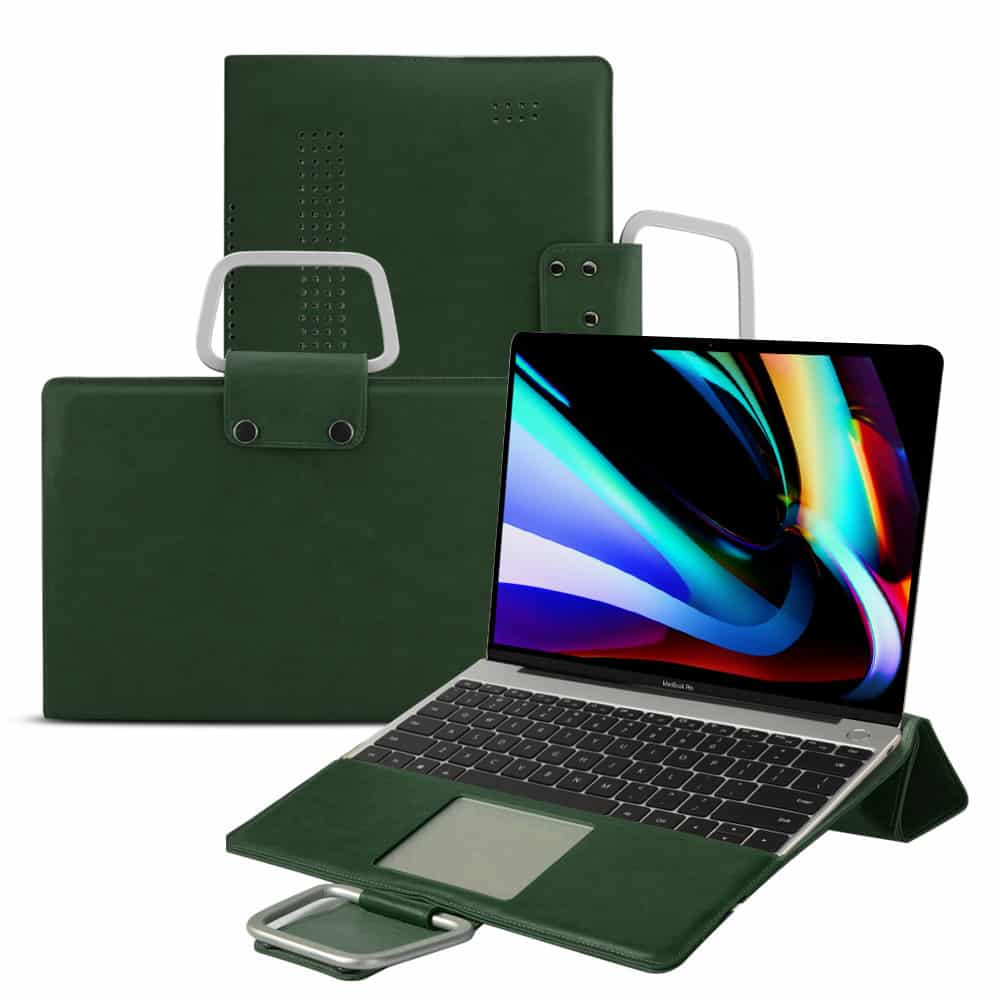 This is the PU Leather Multi-Functional  MacBook Pro 16 inch case.