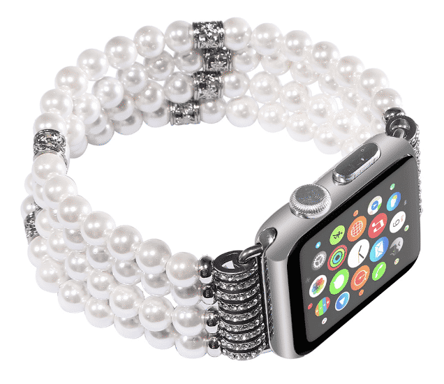 This is the Pearl Strap Band for 44mm and 40mm Apple Watch Series 5.
