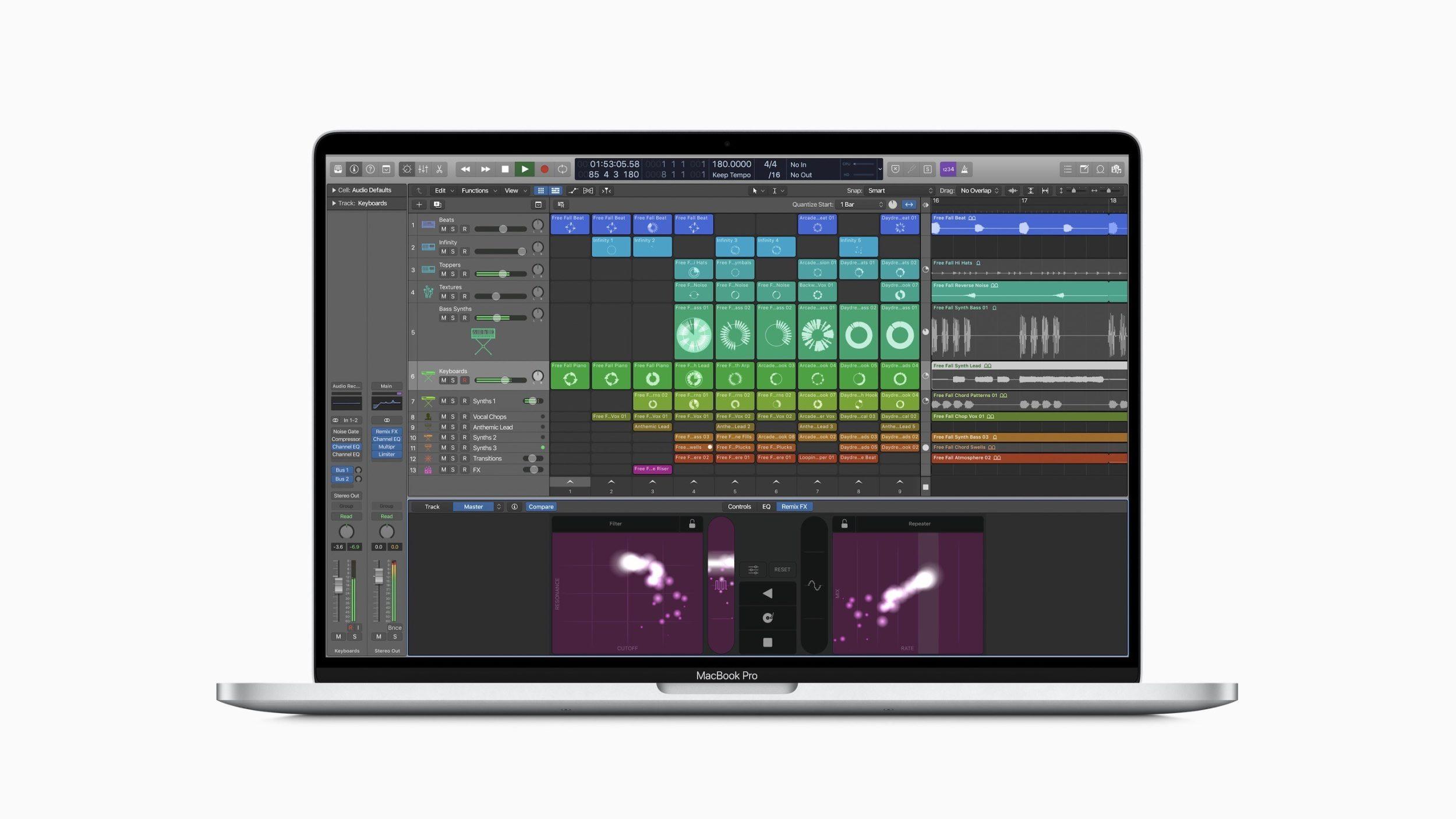 MacBook Pro with Logic Pro X