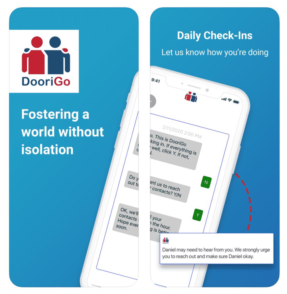 DooriGo App daily check-ins