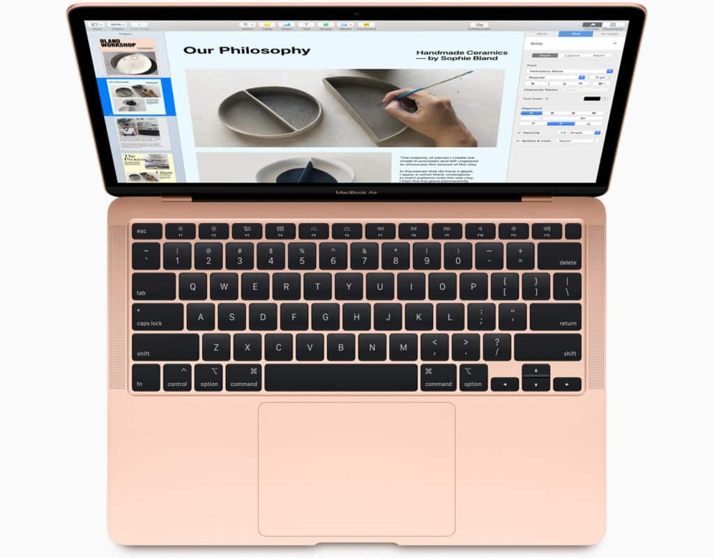MacBook Air with updated keyboard