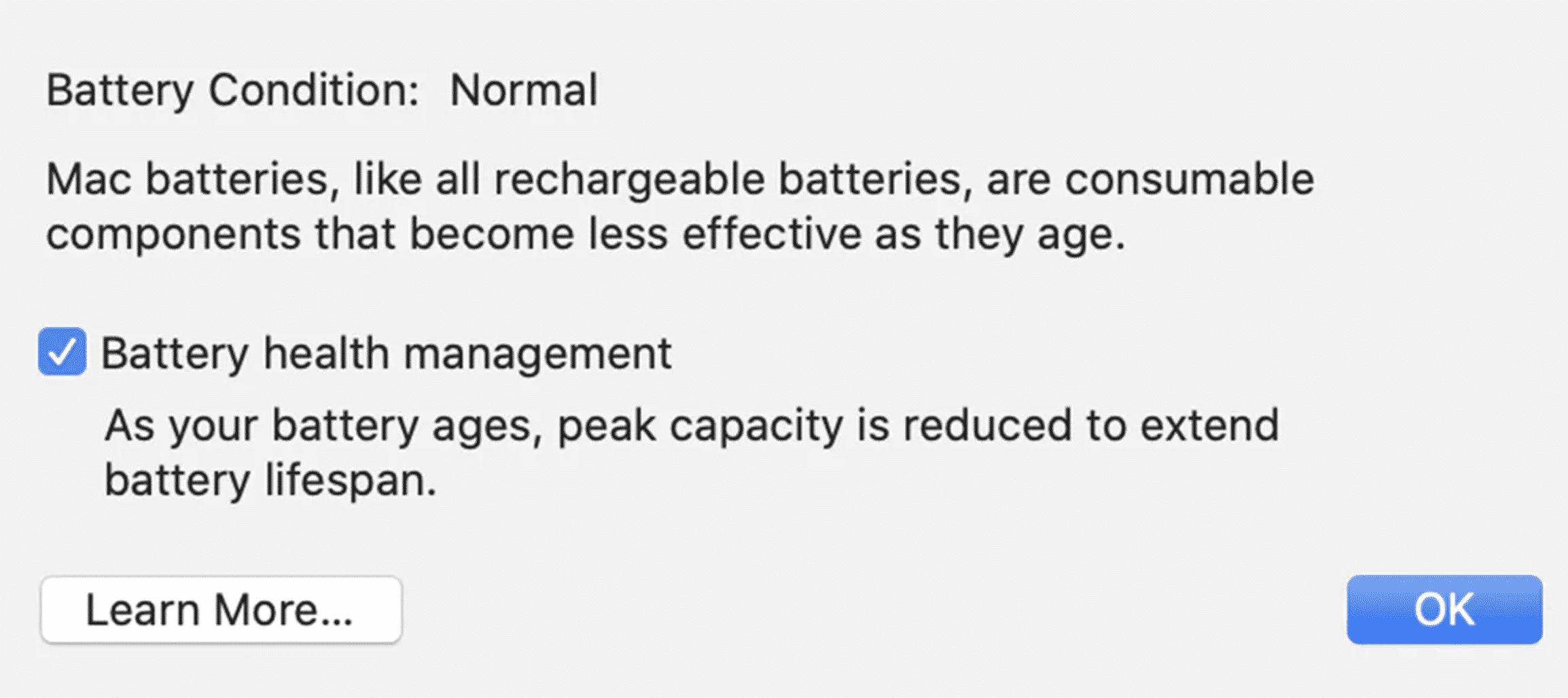 Battery Health Management