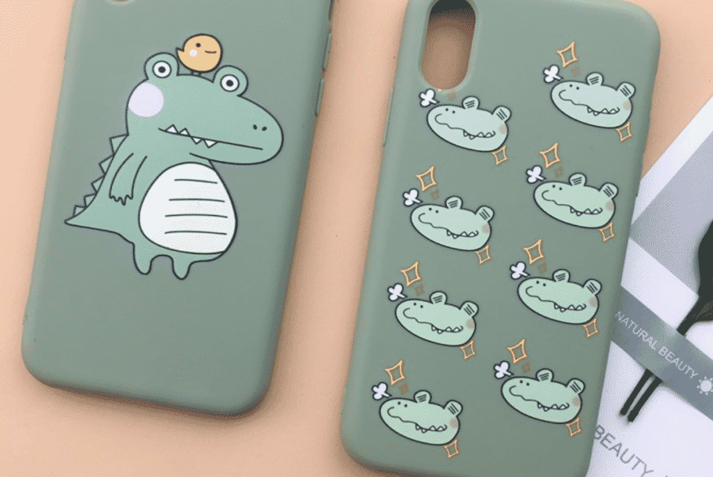 Cartoon Dino Case for iPhone SE 2020