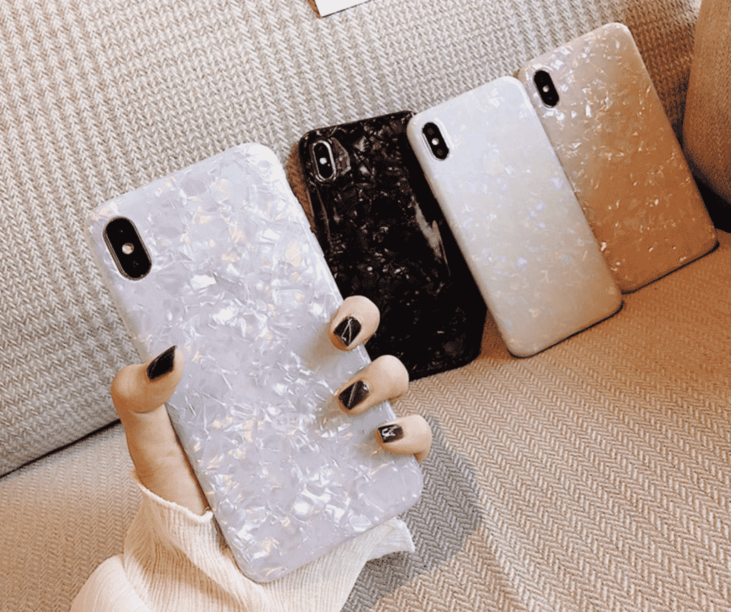 Glossy Glitter Case for iPhone SE 2020