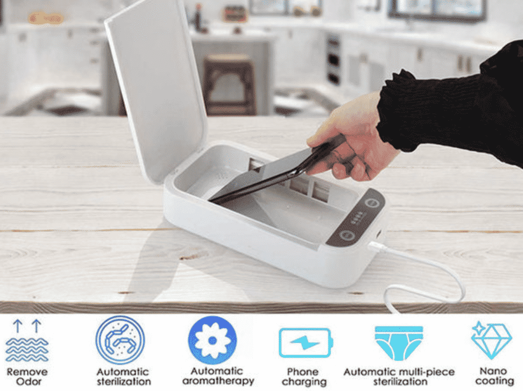 Get an instant 61% Off on the SaniCharge Phone UV Sanitizer 1