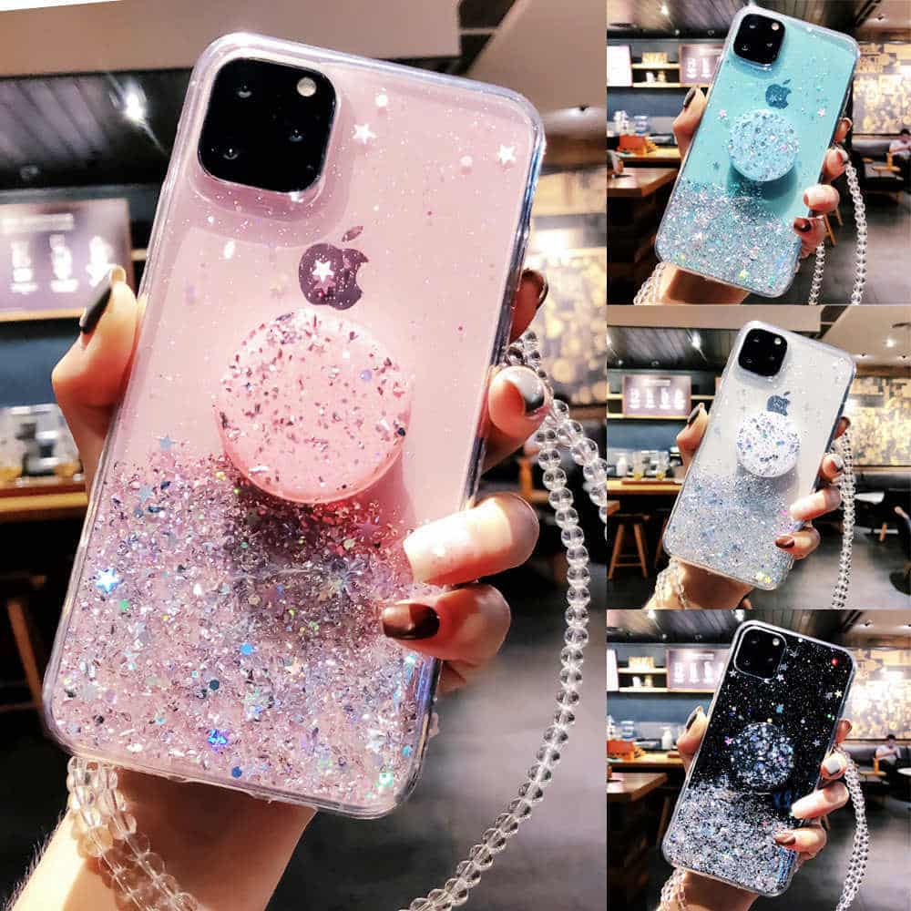 Unique Glitter Case for iPhone SE 2020