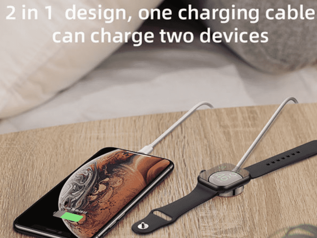 2-in-1 Lightning Cable with Wireless Watch Pad is now 50% Off 1