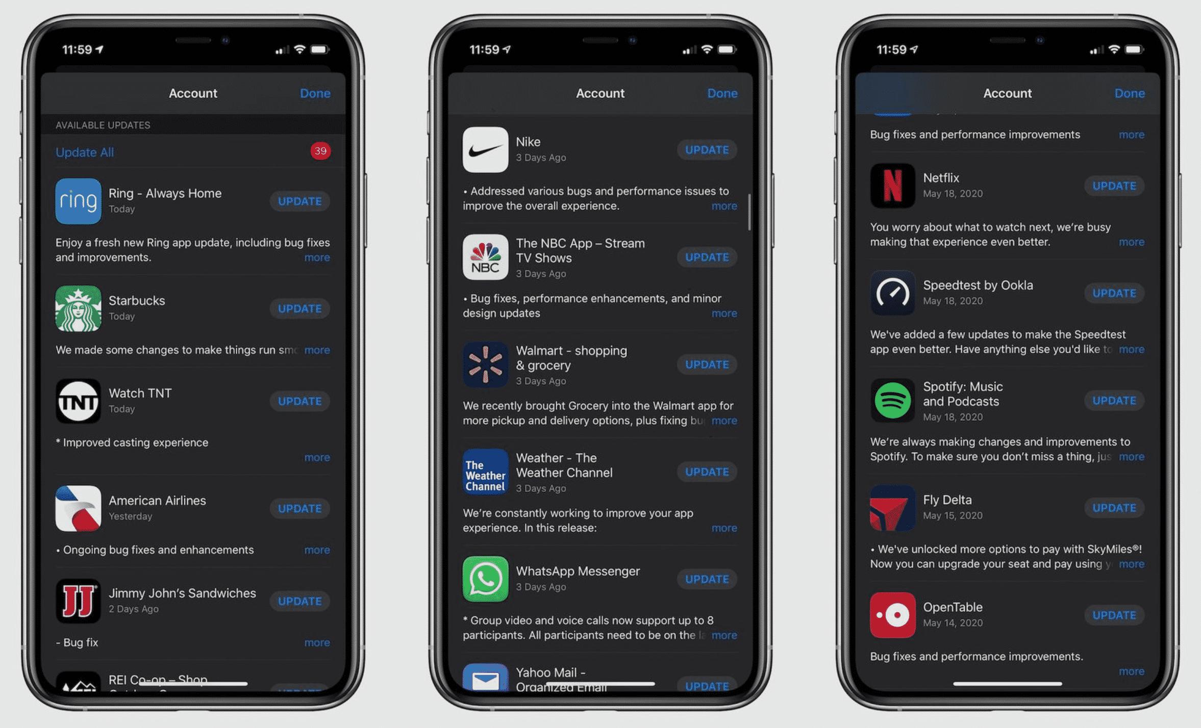 Apple Updates Apps