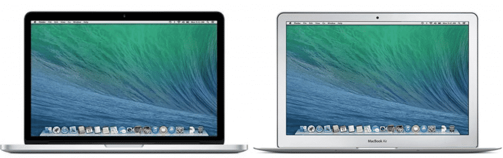 Macbook Air models in the vintage collection