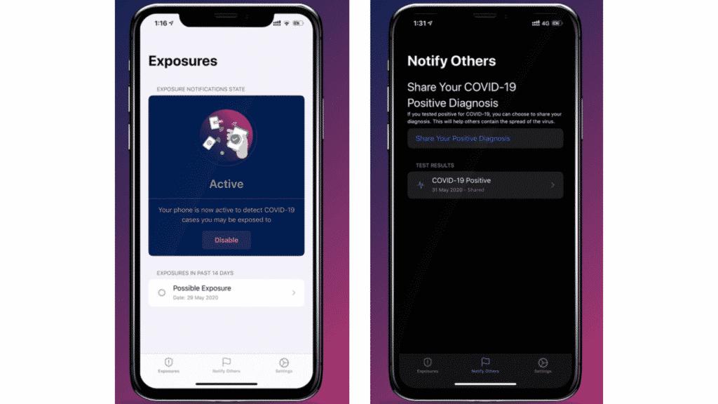 Apple/Google API COVID-19 Contact Tracing Apps