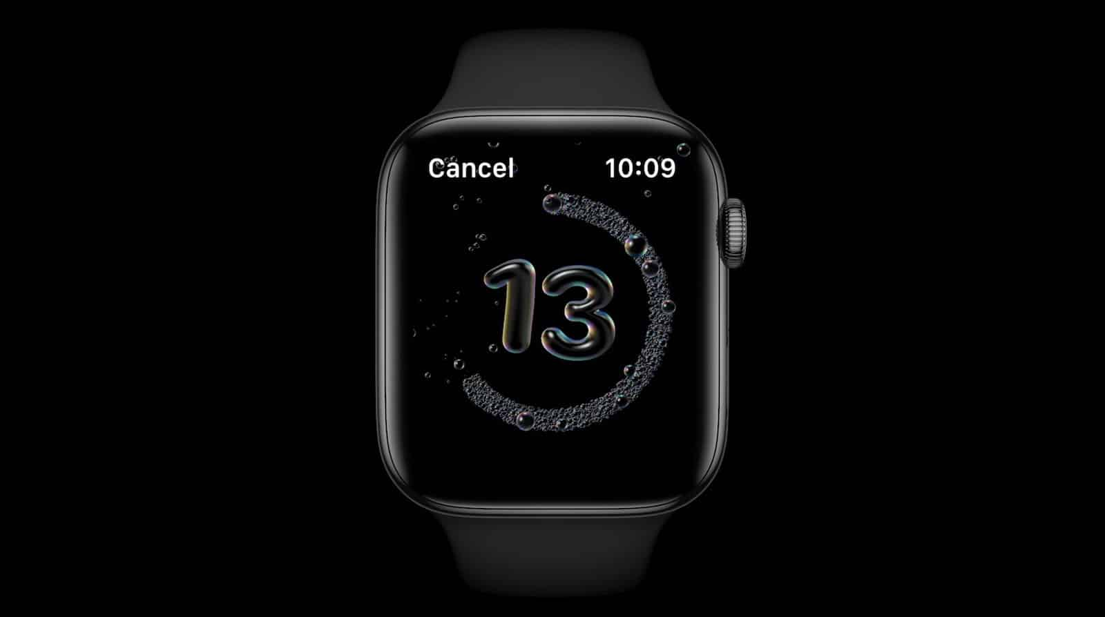 Apple Watch watchOS 7 hand washing timer