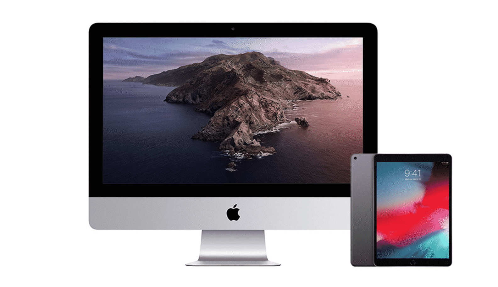iMac, an iPad Air and an iPad Mini