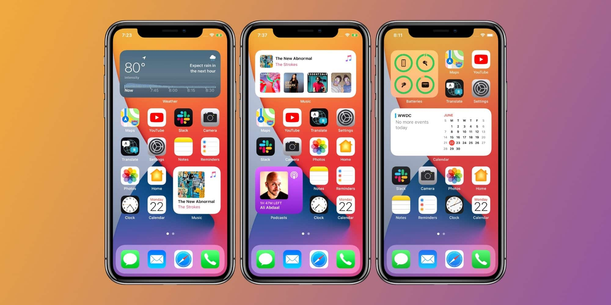iOS 14 brings widgets support to the iPhone
