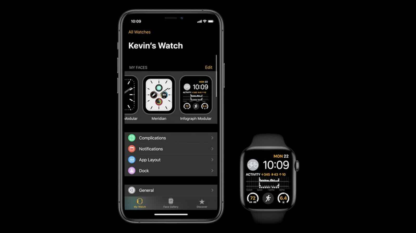 watchOS 7 Face Sharing