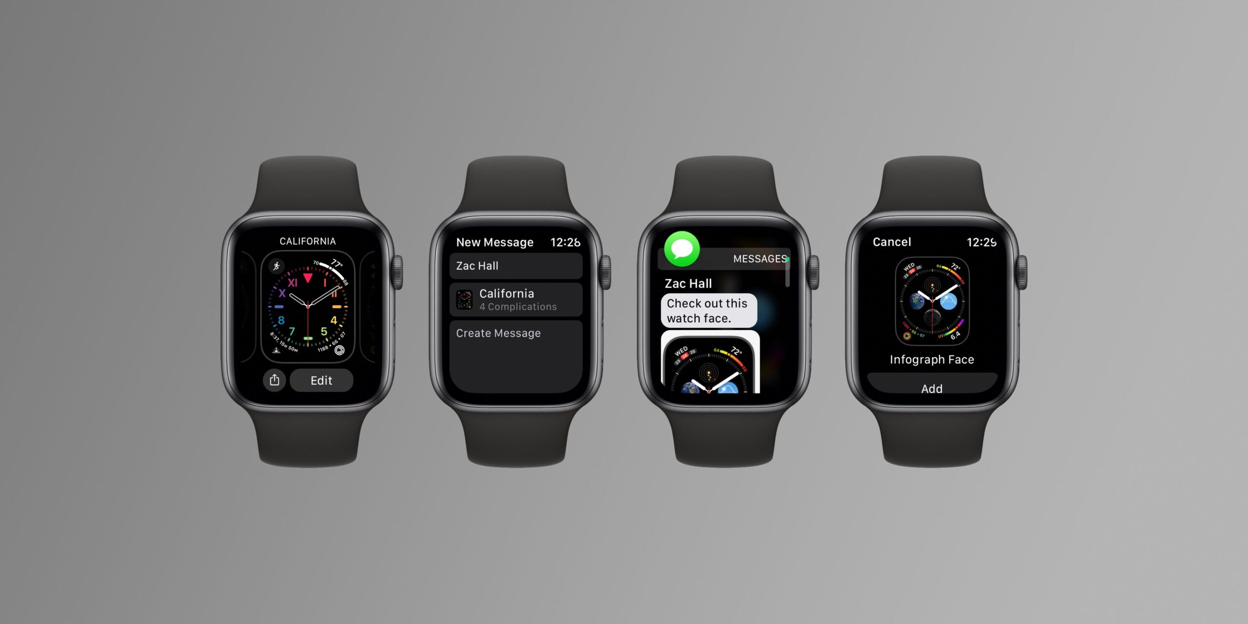 watchOS 7 brings ability to share watch faces