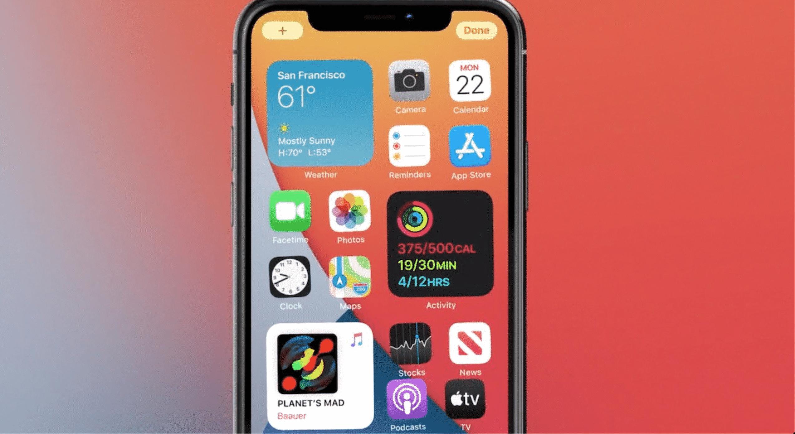 widgets on the new iOS 14