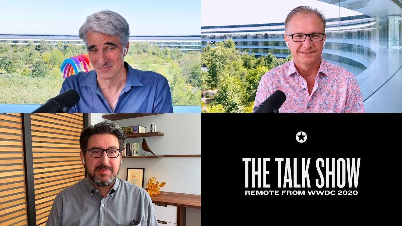 John Gruber discusses WWDC with Apple's Craig Federighi and Greg Joswiak