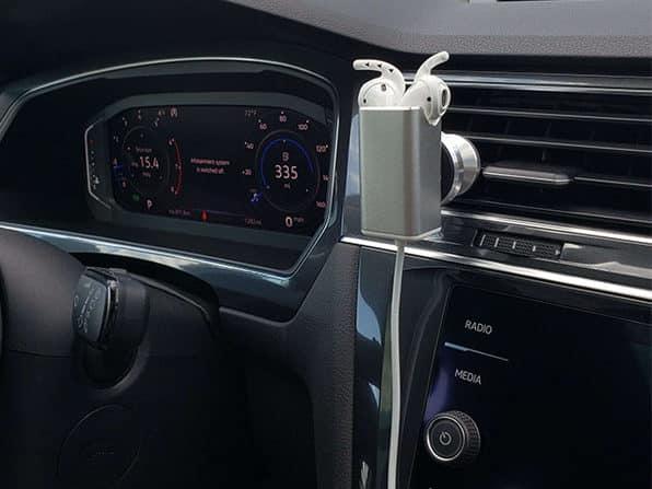 AirPod Charger + Earhoox Bundle inside a car