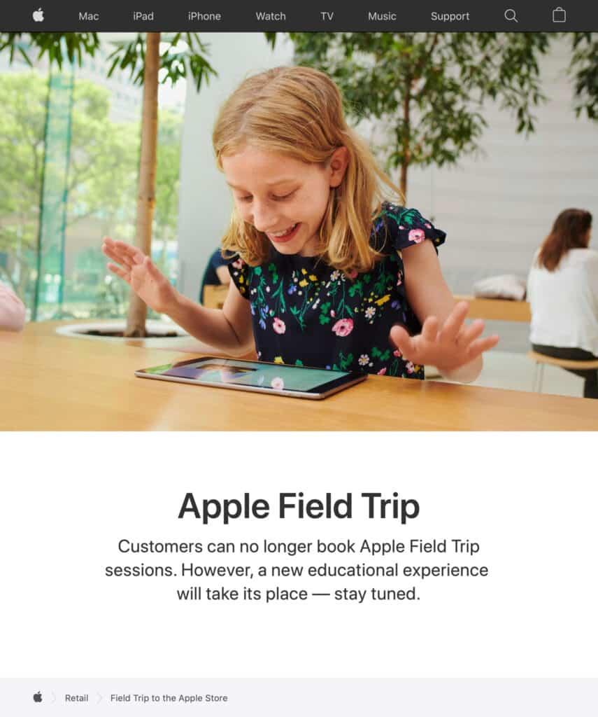 Apple Field Trips in screenshot