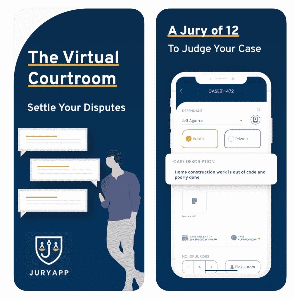 Jury App virtual courtroom