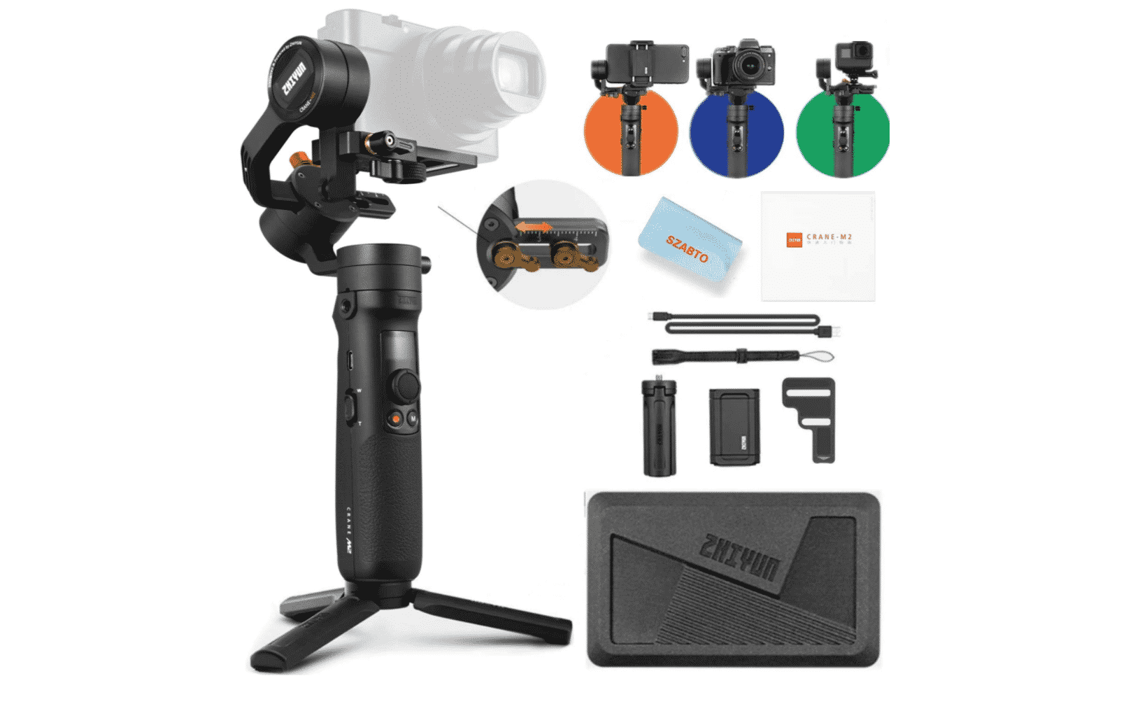Capture Professional-Looking Shots and Videos with the Crane M2 3-Axis Gimbal Stabilizer
