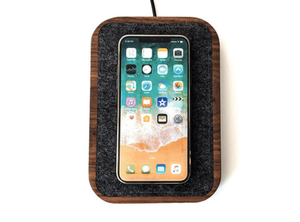Docking Station by Loma Living with an iPhone