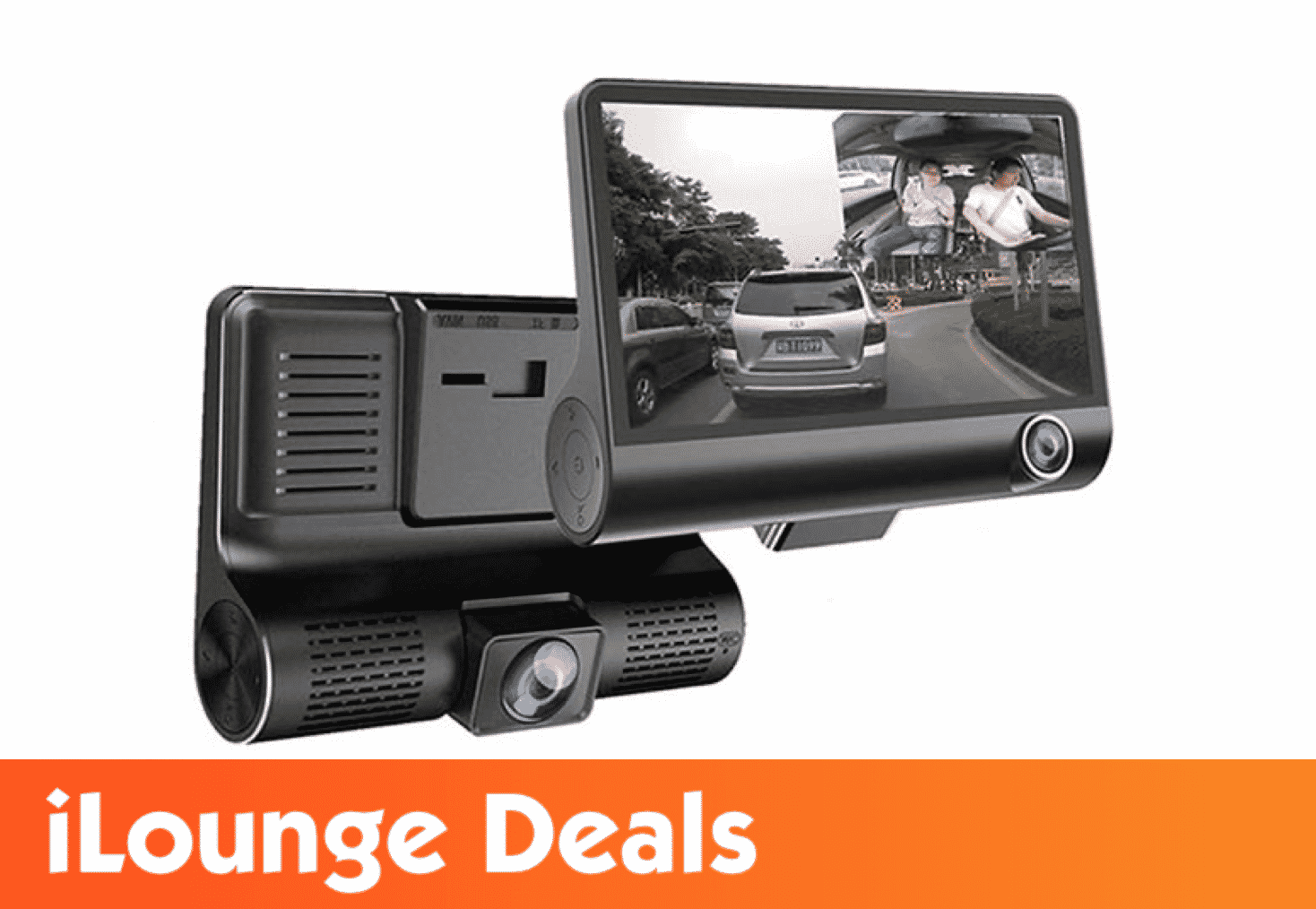 Safe Drive Dual Camera Car Dash Cam with Large Screen