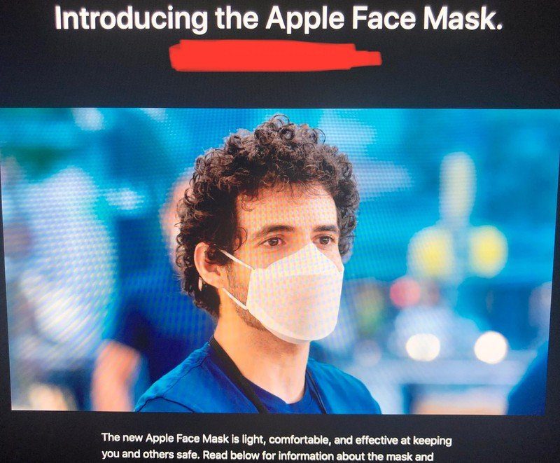 Apple launches customized Apple Face mask to retail and corporate employees