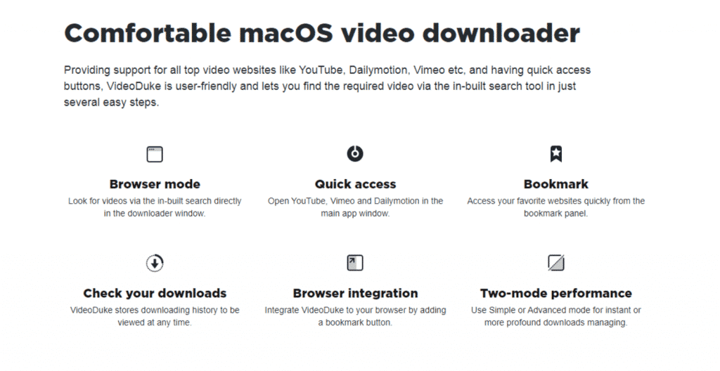 VideoDuke: Great Mac Video Downloader
