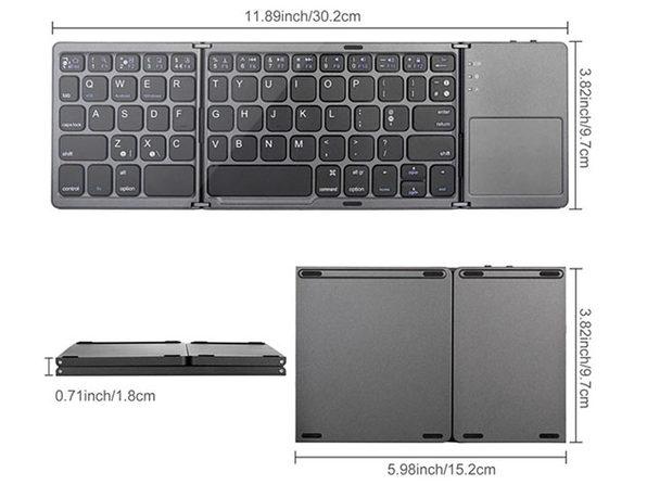 Universal Mini Foldable Wireless Keyboard with Touchpad