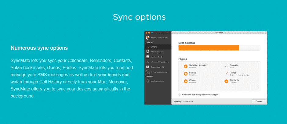 SyncMate: All In One Sync Tool For Mac