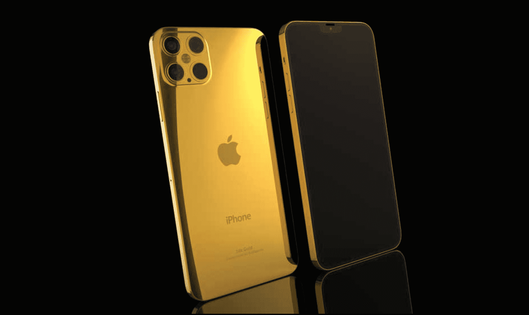 iPhone 12 Pro in 24K gold