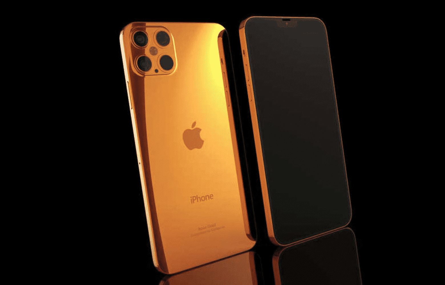 iPhone 12 Pro in pink gold