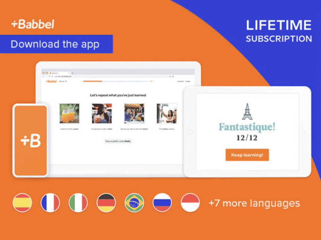 Babbel lifetime subscription on iPhone and iPad