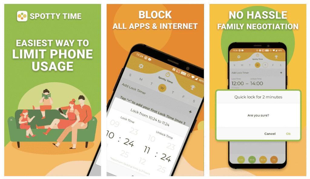 Spotty Time App in screenshots