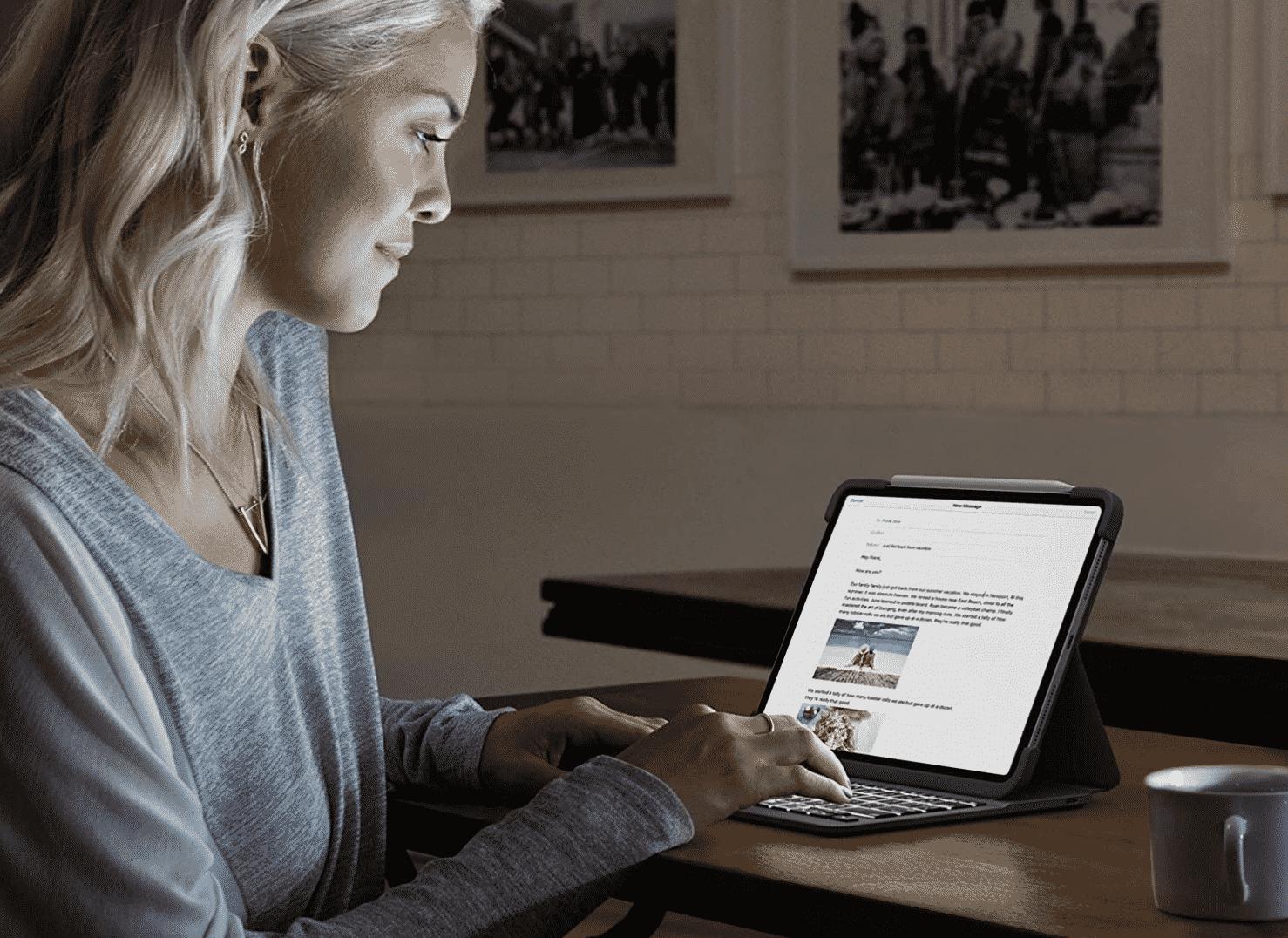 Logitech Slim Folio PRO iPad Pro 11-inch Keyboard case with Integrated Backlit Bluetooth Keyboard