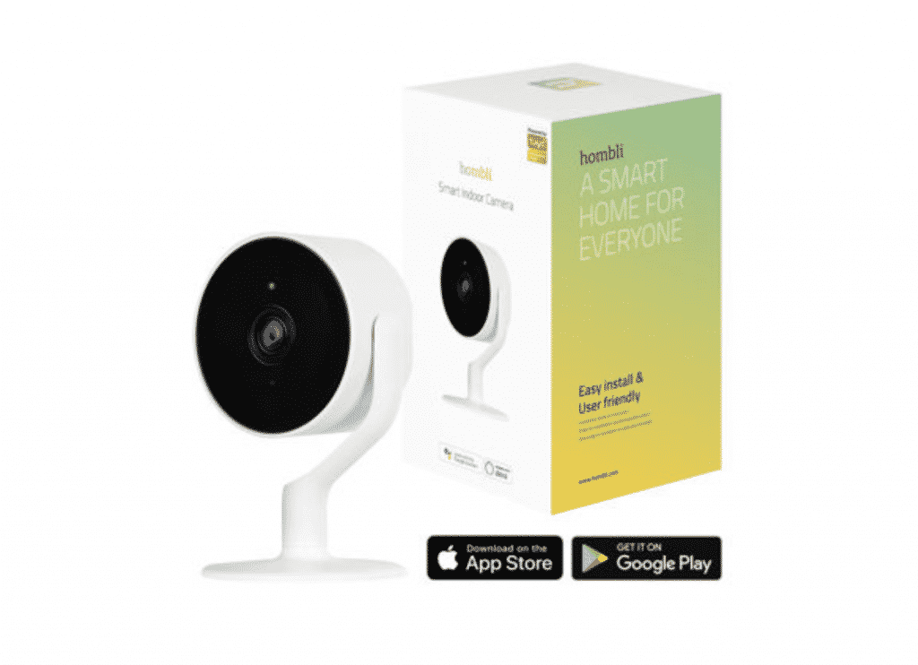 Hombli Smart Indoor Camera with a box