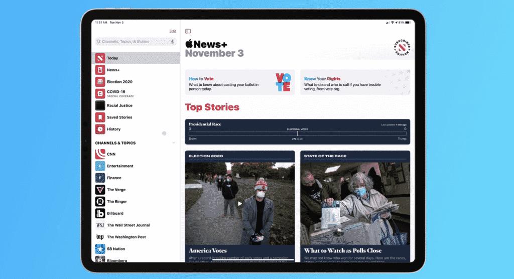 Apple News Spotlights US election day