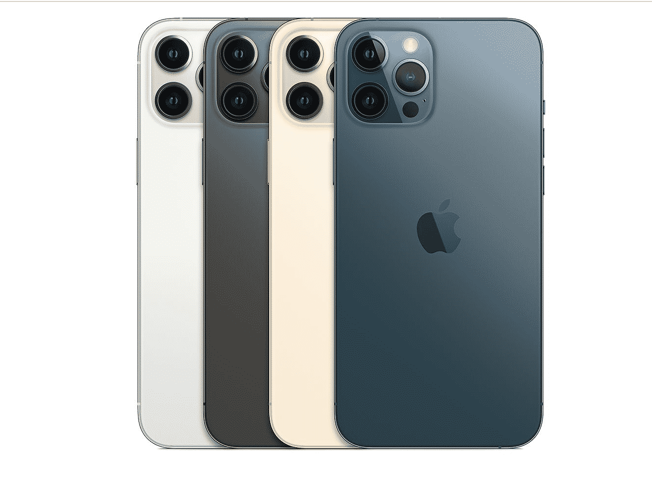 iPhone 12 Pro Max in 4 different colors