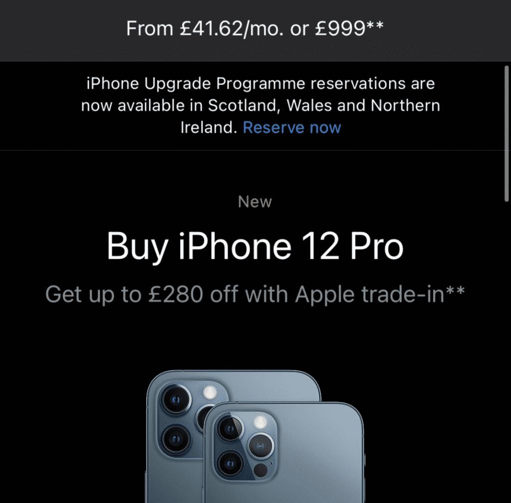 iPhone 12 Pro upgrade