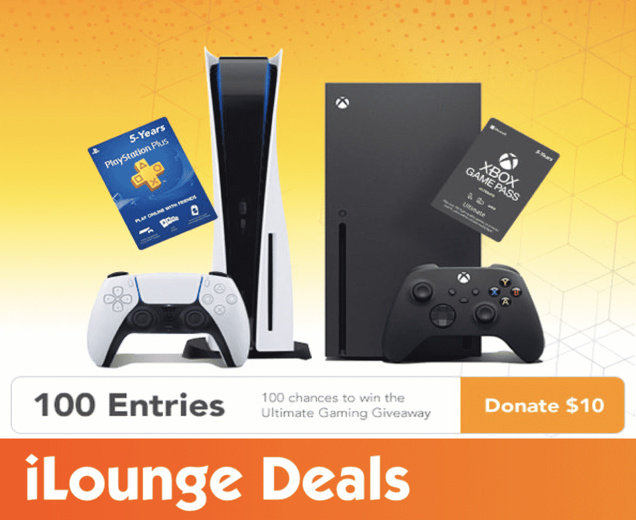 100 Entries to Win the Ultimate Gaming Giveaway & Donate to Charity