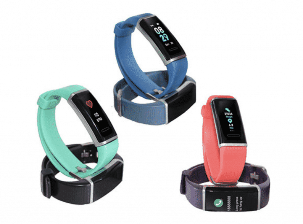 Body Glove waterproof activity tracker in many colors.