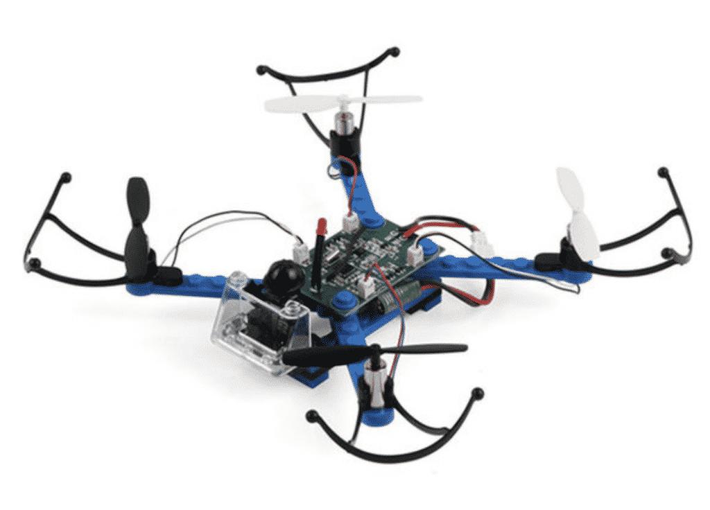 DIY Building Block STEM Drone in close up