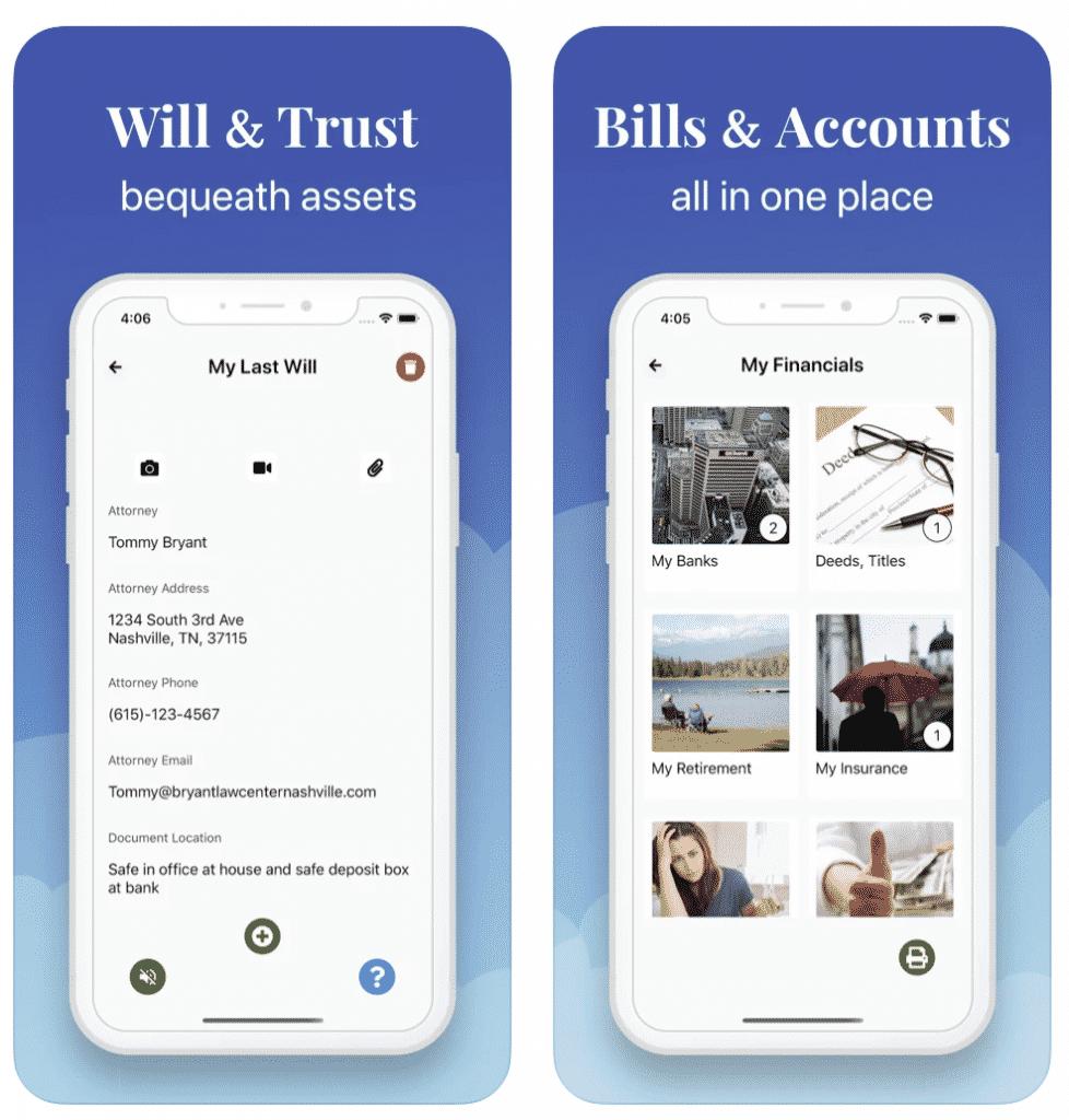 EZ Estate App will and trust