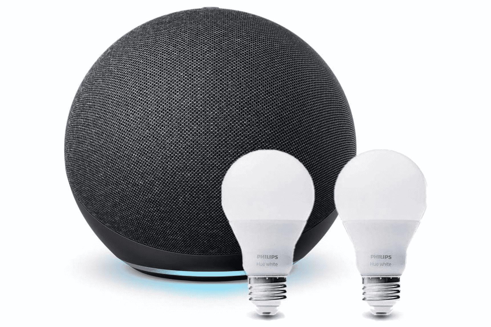 Gen Echo and Two Hue Smart Bulbs Bundle