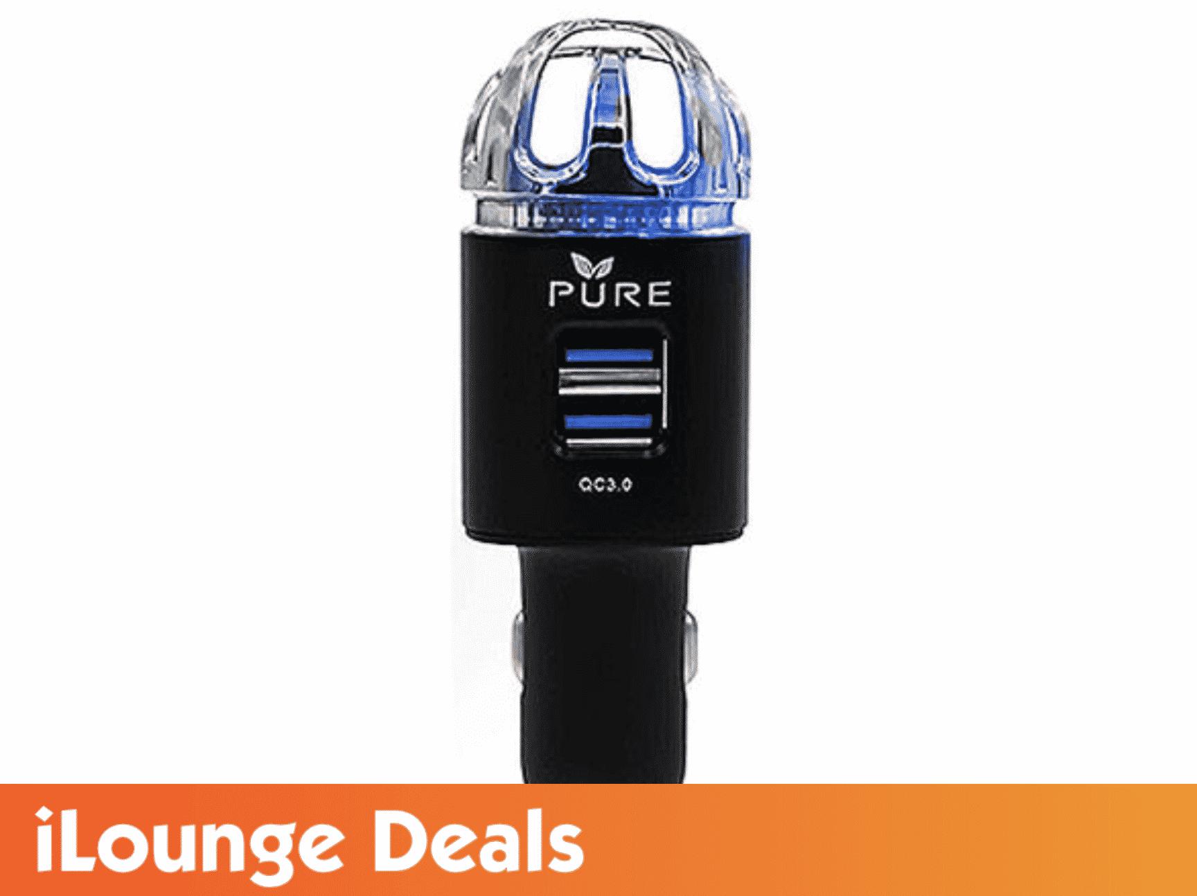 PURE Car Air Purifier Premium Ionizer & Car Charger