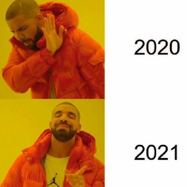 Drake 2021 new year meme