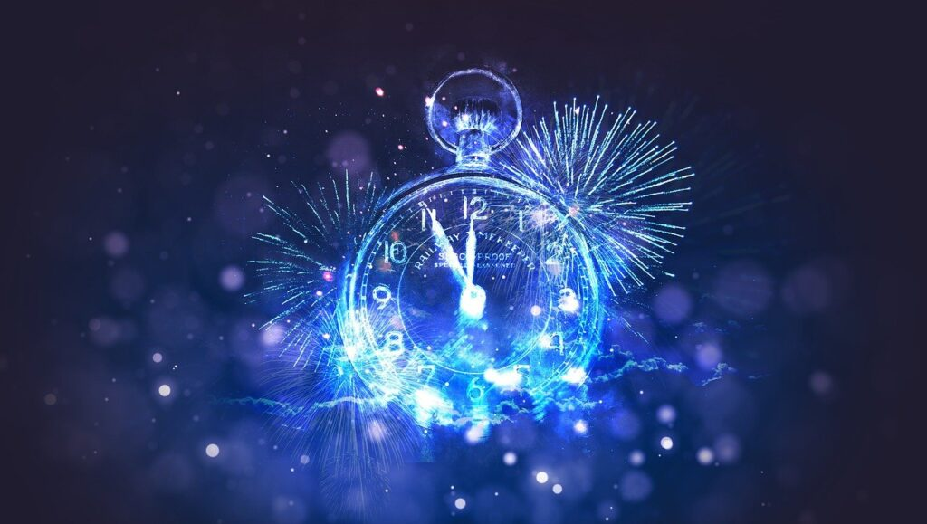 A new year clock for a happy new year