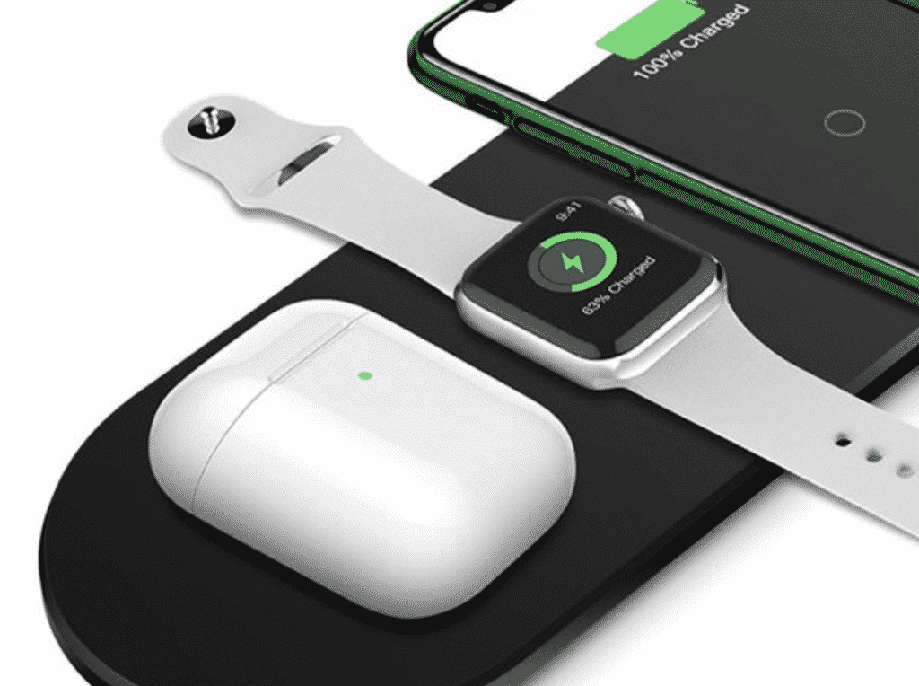3-in-1 Ultra-Thin Fast Wireless Charging Pad in close up