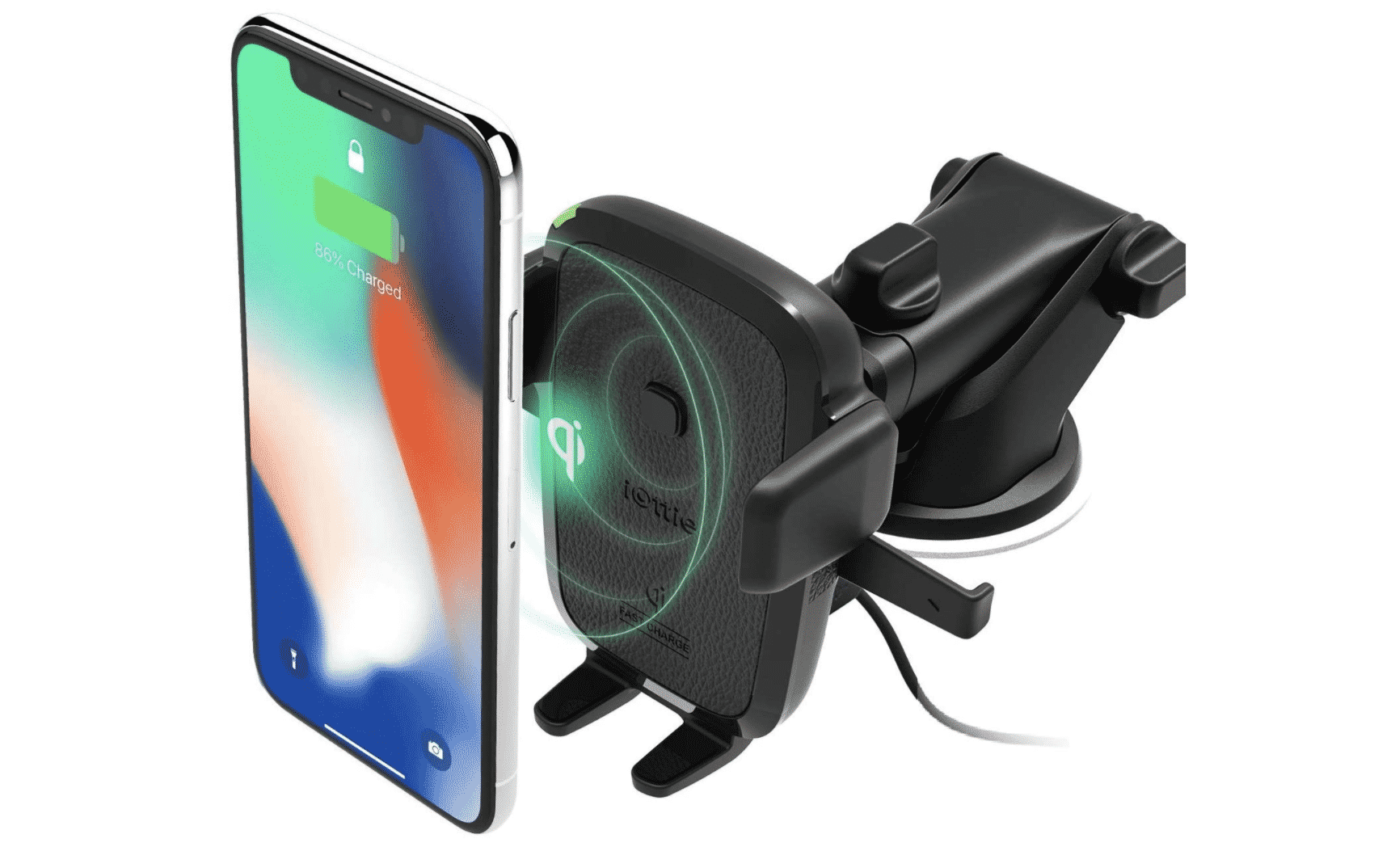 Ottie Easy One Touch Wireless Qi Fast Charge Car Mount Kit